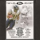 LaDAINIAN TOMLINSON & TONY DORSETT 2007 Topps Running Back Royalty - Jets & Cowboys