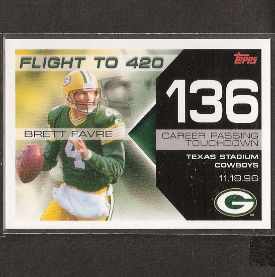 BRETT FAVRE 2007 Topps Flight to 420 - Packers & Vikings