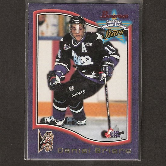 DANIEL BRIERE 1997-98 Bowman CHL ROOKIE CARD - Philadelphia Flyers