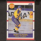 MATS SUNDIN 1990-91 Score ROOKIE - Maple Leafs, Nordiques & Canucks