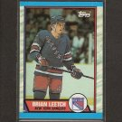 BRIAN LEETCH 1989-90 Topps ROOKIE - NY Rangers & Maple Leafs