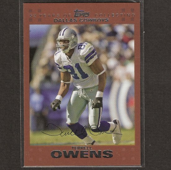 TERRELL OWENS 2007 Topps Copper - Bills & Cowboys