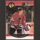 TRENT YAWNEY - Chicago Blackhawks - 1990-91 Pro Set  AUTOGRAPH