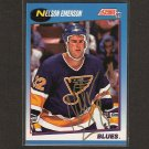 NELSON EMERSON - St. Louis Blues - 1991-92 Score AUTOGRAPH