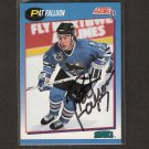 PAT FALLOON - San Jose Sharks - 1991-92 Score AUTOGRAPH