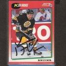 KEN HODGE, JR. - Boston Bruins & Tampa Bay Lightning - 1991-92 Score AUTOGRAPH