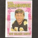 DAN ABRAMOWICZ 1971 Topps Football Mini Poster - 49ers, Saints & Xavier