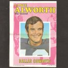 LANCE ALWORTH 1971 Topps Football Mini Poster - Dallas Cowboys & Razorbacks
