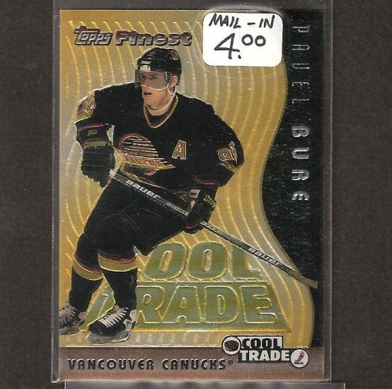 PAVEL BURE 1995-96 Topps Finest COOL TRADE Redemption - Canucks, Panthers, Rangers