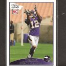 PERCY HARVIN - 2009 Topps ROOKIE - Vikings & Florida Gators