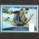 JOHN CARLSON - 2009 Topps Chrome REFRACTOR - Notre Dame & Seahawks