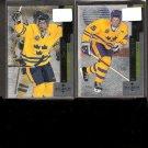 HENRIK & DANIEL SEDIN 1997-98 Black Diamond ROOKIE CARD - Canucks & Sweden