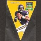 Warren Moon - 1996 Playoff Contenders PENNANT - Vikings, Oilers & Washington Huskies