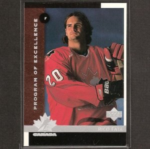 RICO FATA 1997-98 Upper Deck ROOKIE - Flames, Rangers, Penguins
