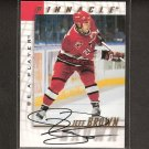 JEFF BROWN - 1997-98 Be A Player AUTOGRAPH - Hurricanes, Maple Leafs, Blues, Canucks & Nordiques