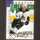 BRAD ISBISTER - 1997-98 Be A Player AUTOGRAPH - Coyotes, Islanders, Rangers & Oilers