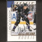 MATTIAS OHLUND - 1997-98 Be A Player Rookie AUTOGRAPH - Vancouver Canucks & Tampa Bay Lightning