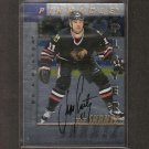 JEFF SHANTZ - 1997-98 Be A Player Die Cut AUTOGRAPH - Blackhawks, Flames & Avalanche