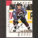 JARI KURRI - 1997-98 Be A Player AUTOGRAPH - Avalanche, Oilers, Kings, Rangers & Ducks