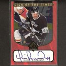 YANIC PERREAULT - 1997-98 SP Authentic S.o.T. AUTOGRAPH - Kings, Maple Leafs, Canadiens & Blackhawks