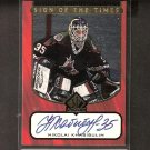 NIKOLAI KHABIBULIN - 1997-98 SP Authentic S.o.T. AUTOGRAPH - Coyotes, Lightning, Blackhawks & Oilers