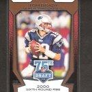 TOM BRADY 2010 Topps 75th Draft - New England Patriots & Michigan Wolverines
