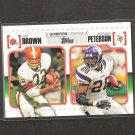 JIM BROWN & ADRIAN PETERSON 2010 Topps Gridiron Lineage Rookie - Cleveland Browns & Vikings