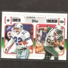 EMMITT SMITH & LaDANIAN TOMLINSON 2010 Topps Gridiron Lineage Rookie - Dallas Cowboys & NY Jets