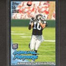 ARMANTI EDWARDS 2010 Topps BLACK Rookie - Carolina Panthers & Appalachian State