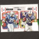 ERIC DICKERSON & JOSEPH ADDAI 2010 Topps Gridiron Lineage Rookie - Indianapolis Colts