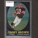 JIM BROWN 2010 Topps Chrome Rookie REPRINT - Cleveland Browns & Syracuse Orangemen