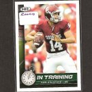 SAM BRADFORD - 2010 Hit In Training Rookie Card - St. Louis Rams & Oklahoma Sooners