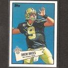 DREW BREES - 2010 Topps 52 Bowman - New Orleans Saints & Purdue Boilermakers