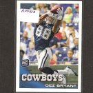 DEZ BRYANT - 2010 Topps Rookie Card - Dallas Cowboys & Oklahoma State