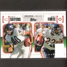 GALE SAYERS & MATT FORTE - 2010 Topps Gridiron Lineage - Chicago Bears