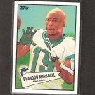 BRANDON MARSHALL - 2010 Topps 52 Bowman - NY Jets, Dolphins & Central Florida