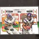 ADRIAN PETERSON & PERCY HARVIN - 2010 Topps Gridiron Lineage - Minnesota Vikings