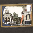 SAN DIEGO CHARGERS team card 2010 Topps GOLD Parallel