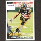 EMMANUEL SANDERS - 2010 Topps Rookie - Steelers & SMU Mustangs