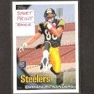 EMMANUEL SANDERS Variant - 2010 Topps SHORT PRINT Rookie - Steelers & SMU Mustangs