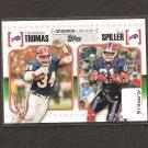 THURMAN THOMAS & CJ SPILLER 2010 Topps Gridiron Lineage Rookie - Buffalo Bills