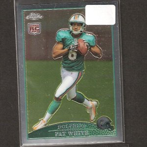 PAT WHITE - 2009 Topps Chrome ROOKIE - Dolphins & West Virginia Mountaineers