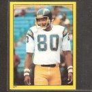 KELLEN WINSLOW - 1982 Topps Sticker - Chargers & Missouri Tigers