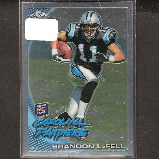 BRANDON LaFELL - 2010 Topps Chrome Rookie - Panthers & LSU Tigers
