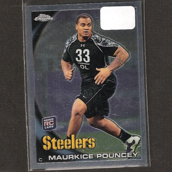 MAURKICE POUNCEY - 2010 Topps Chrome Rookie - Steelers & Florida Gators