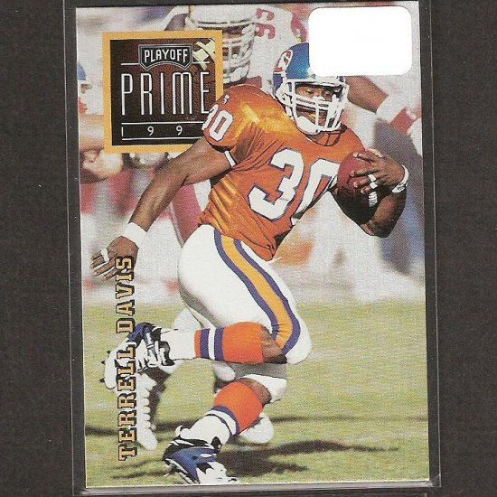 TERRELL DAVIS - 1996 Playoff Prime Gold RARE - Broncos & Georgia Bulldogs