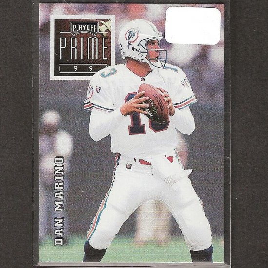 DAN MARINO - 1996 Playoff Prime Silver UNCOMMON - Dolphins & Pitt Panthers