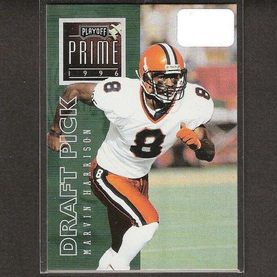 MARVIN HARRISON - 1996 Playoff Prime Silver UNCOMMON Rookie - Colts & Syracuse Orangemen