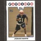 JEROD MAYO - 2008 Topps Rookie - Patriots & Tennessee Volunteers