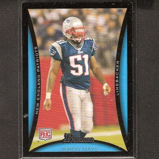 JEROD MAYO - 2008 Bowman Rookie - Patriots & Tennessee Volunteers